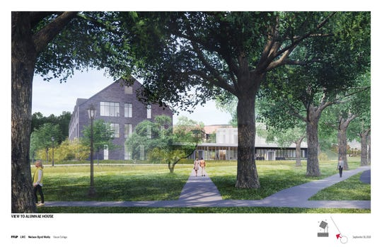 Rendering of Vasser College's Institute of Liberal Arts and Inn