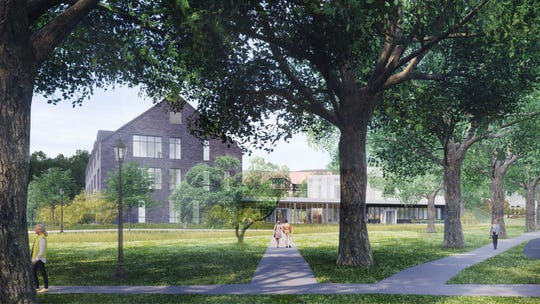 This rendering shows Vassar College's planned inn and conference center development.