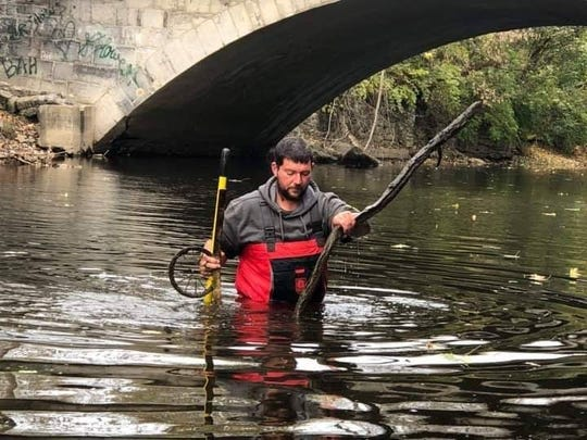 "Eric Grace started the Franklin County Creek Cleanup Project in 2017 when he wanted to take his daughter fishing but the local waterway was littered with an ""unbelievable"" amount of trash."