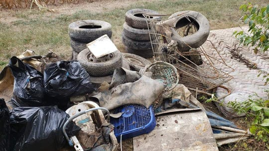 Tires, shopping carts are more common items than you would think that are pulled out of the Conococheague Creek.