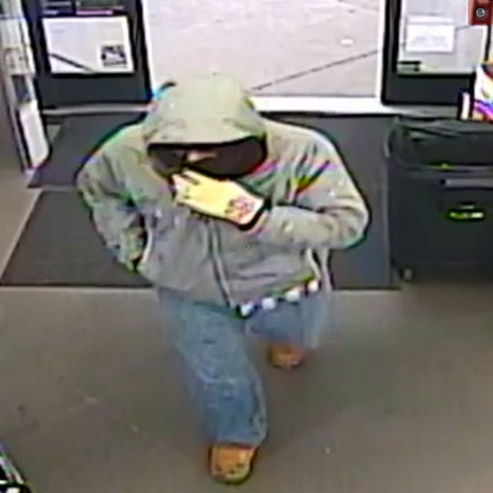 Police said this armed robber held up a Delta-area Dollar General store on Dec. 15, 2019.
