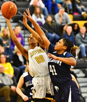 Dallastown vs Red Lion during basketball action at Red Lion Area Senior High School in Red Lion, Wednesday, Jan. 8, 2020. Red Lion would win the game 46-32. Dawn J. Sagert photo