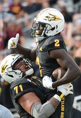 Arizona State receiver Brandon Aiyuk (2) became the second player with local ties to become a first-round NFL draft pick.