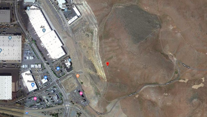 The location of the Copper Canyon parcel mentioned in a master plan amendment application that was filed on Dec. 24, 2019.