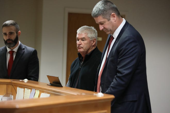 Assemblyman Brian Kolb stands next to his attorney, Christopher Schiano, before his arraignment Jan. 9.
