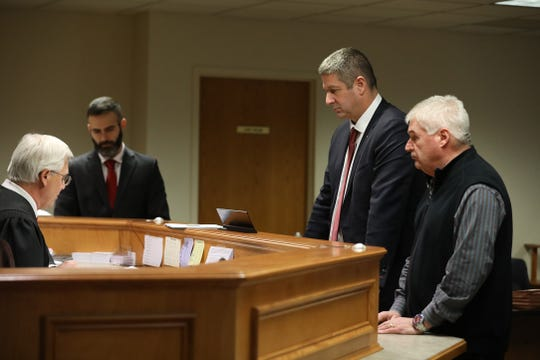 Assemblyman Brian Kolb, with his attorney, Christopher Schiano, pleaded not guilty before Penfield, NY Justice James P. Mulley Jr. in Victor Town Court.