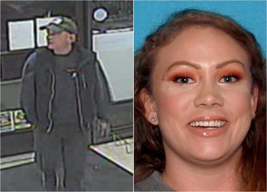 Police believe the unidentified man on the left may be connected to the disappearance of 27-year-old Danielle Renee Bisnell of Redding. She was reported missing in December 2019.