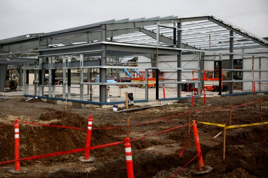 Construction for an expansion of Ochoa's Queseria on Portland Rd. NE in Salem on Jan. 9, 2020.