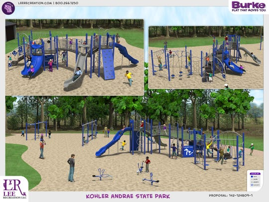 Rendering of the new playground the Friends hope to install by the end of 2020.