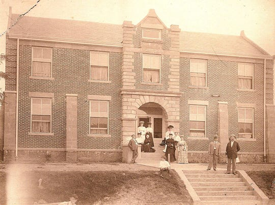Pictured are residents and community supporters standing in front of the new ÒHome for the HomelessÓ on Jordan Street in 1906. The community, founded in 1898, fulfilled Mary FilesÕs dream of creating a haven for homeless elderly women in the local area. A Board of Directors was formed that continues to serve as a governing body in todayÕs organization, The Glen.
