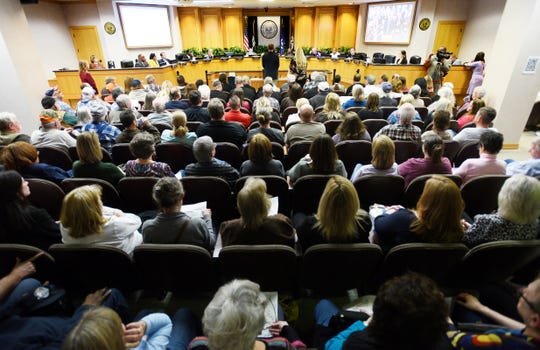 The Caddo Commission meeting Thursday afternoon, January 9, 2020.