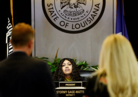 Caddo Commissioner for District 6 Lynn Cawthorne during a meeting Thursday afternoon, January 9, 2020.