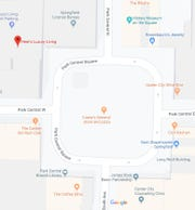 Maybe you didn't know that the one street on the downtown square is called Park Central Square. I'm sure you didn't know about -- as indicated on the map -- the Casey's General store and pizza on the square. (It does not exist.)