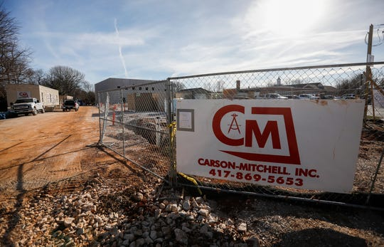 Construction takes place at Sunshine Elementary School on Wednesday.