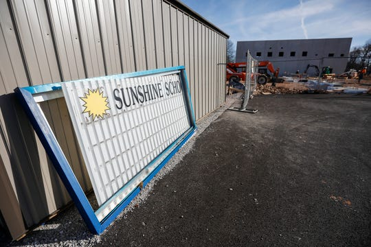 A look at the construction taking place at Sunshine Elementary School.