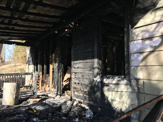A fire destroyed a home Wednesday on East Main Street in Waynesboro.