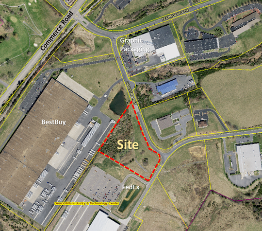 The building site at 3 Industry Way in Green Hills Industry and Technology Center for Staunton's medical marijuana dispensary remains vacant.