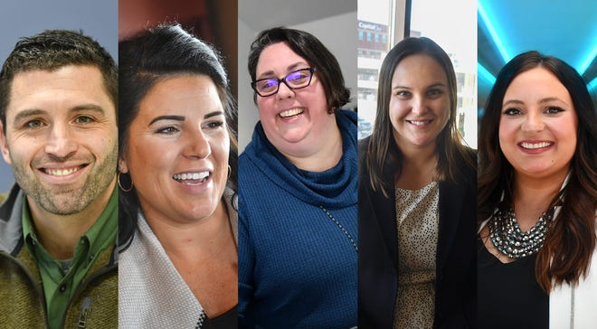 15th annual SC Times 5 Under 40 awards winners: From left: Ryan Cross, Bethie Gondeck, Michelle Henderson, Sarah McGuire and Bethany Schubert.