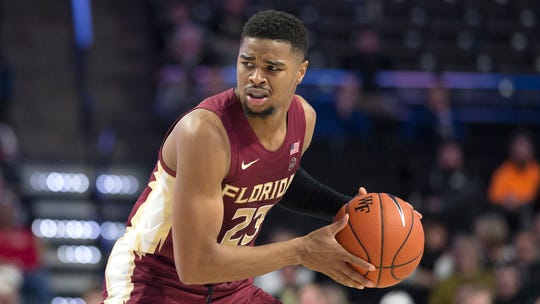 Florida State guard M.J. Walker (23) in the second half of an NCAA college basketball game Wednesday, Jan. 8, 2020 in Winston-Salem, N.C. Florida State wins 78-68. (AP Photo/Lynn Hey)