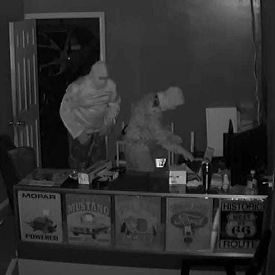 Port St. Lucie police published video allegedly showing the burglary of a automotive repair shop on New Year's Eve.