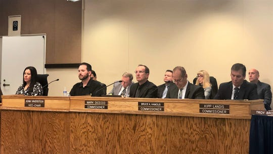 Moorpark planning commissioners listen to an update on new state housing laws on Jan. 8, 2020.