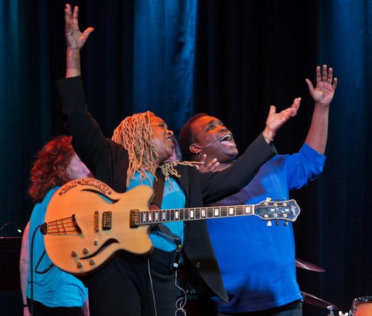 """Pat Wilder and Daria Johnson in """"Blues is a Woman."""""""