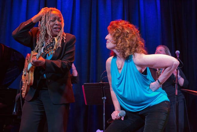 """Pat Wilder and Pamela Rose in """"Blues is a Woman."""""""