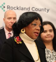 Rockland Human Rights Commissioner Constance Frazier unveils plans for community forums and advocating ways to ease divisiveness and hate speech during a press conference in New City Jan. 9, 2020.