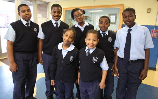 Many children who fled Haiti after the 2010 earthquake were accepted by the former St. Peter's School, located in downtown Haverstraw. This 2012 photo of Haitian students includes, back row on the right, Cleo Geneste, then 10.