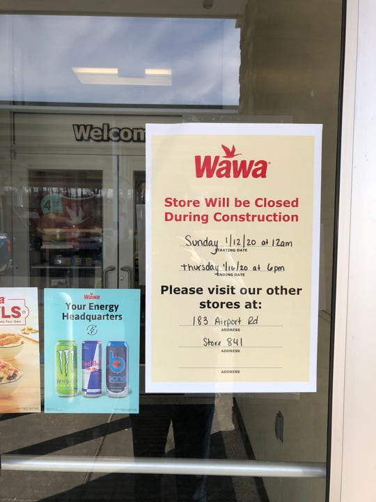 The Wawa on Commons Boulevard will close next week for renovations.