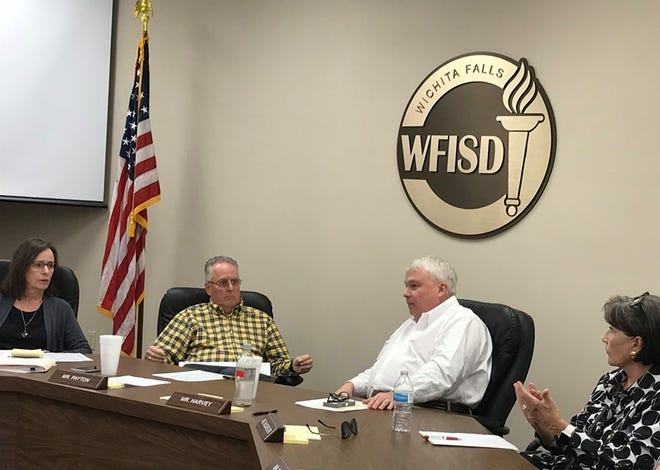 Wichita Falls ISD trustees mull over their options to improve the district's facilities during a noon work session Thursday.