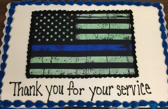 Walmart delivered a cake to the Zanesville Police Department Thursday for Law Enforcement Appreciation Day.