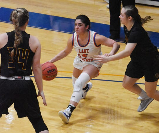 The Louisiana College Lady Cats dropped their American Southwest Conference home opener, 78-49, to Concordia of Texas Thursday, Jan. 9, 2019.