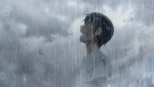 """A scene from """"Weathering With You,"""" the latest feature from director Makoto Shinkai."""