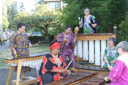 The Anzanga Marimba Ensemble perform Feb. 14 at Bainbridge Performing Arts.