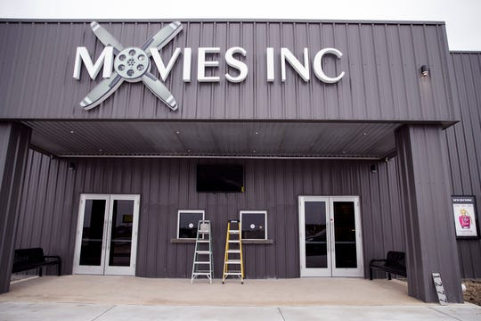 Construction is completed on Movies Inc. in Aransas Pass on Friday, January 10, 2020. The theater plans to open later that night.