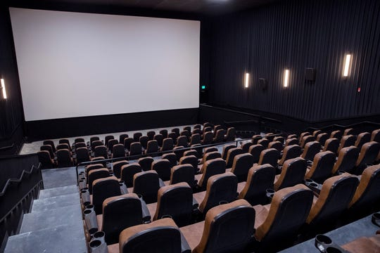 Get a sneak peek of Movies Inc. in Aransas Pass on Friday, January 10, 2020. The theater has an aviator theme throughout.