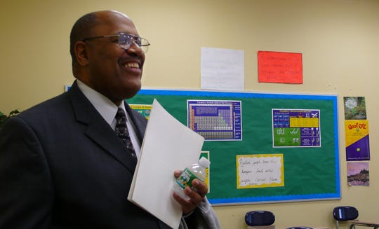 Rick Taylor visits Living Faith High School in 2007, when he was mayor of Pennsauken. The former mayor and educator has died after a long illness.
