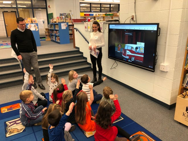Indian Hill Primary School kindergarten students learned coding during a special Hour of Code session conducted by volunteers from Accenture Tuesday, December 10, 2019.