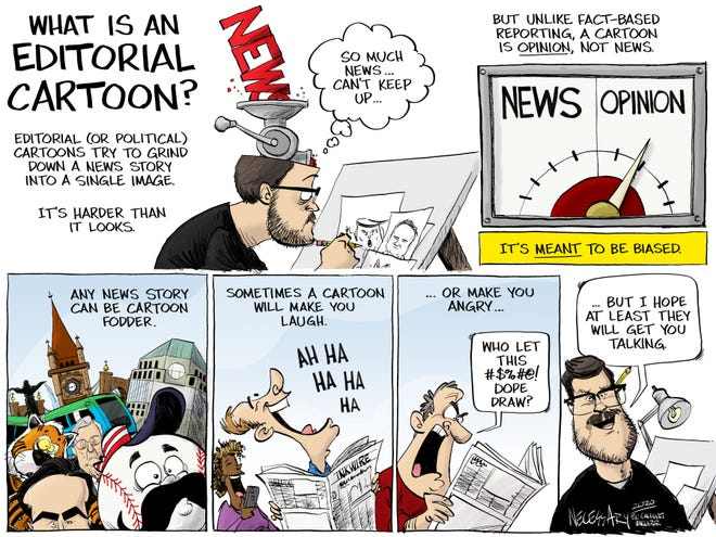 What is an editorial cartoon?