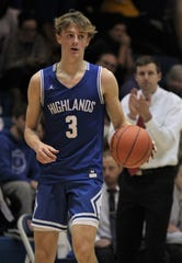Highlands junior Sam Vinson as Conner defeated Highlands 73-61 in boys basketball, handing the Bluebirds (14-1) their first loss of the season. The Cougars improved to 8-5. Jan. 9, 2019 at Conner High School, Hebron, Ky.