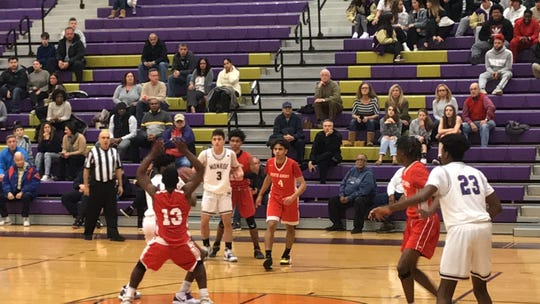 Perth Amboy at Monroe boys basketball on Thursday, Jan. 9, 2020.