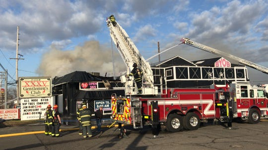 Fire at Club 35 in Sayreville on Friday.