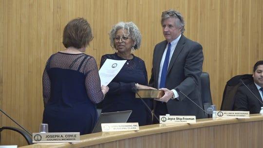 Edison Township Councilwoman Joyce Ship-Freeman was sworn in Jan. 6. She was elected Township Council President.
