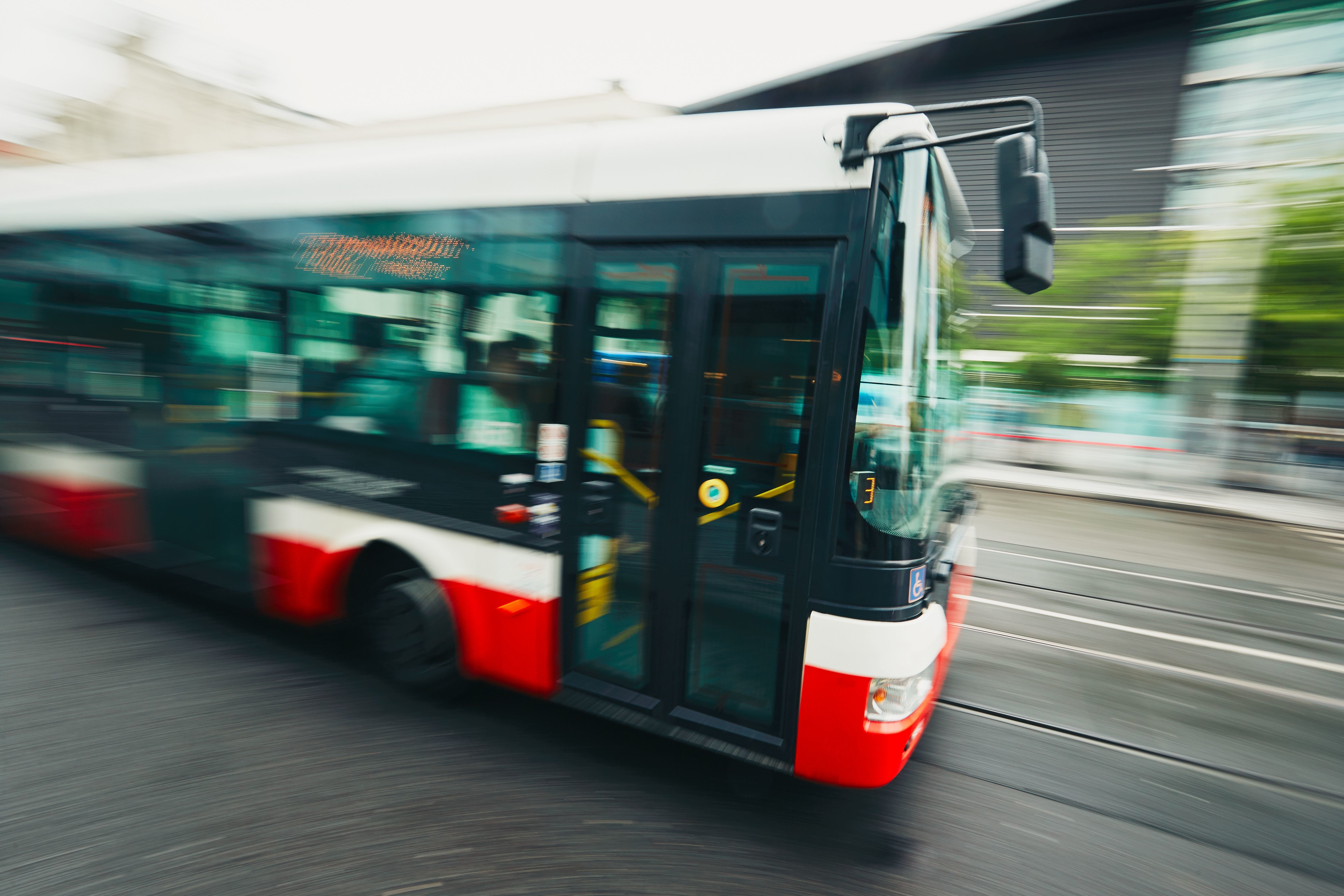 Bus on the street