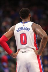 Andre Drummond during action against the Cavs, Jan. 9, 2020.