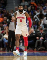 Andre Drummond during action against the Cavs on Thursday at LCA.