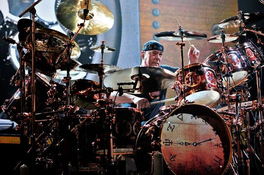 Rush drummer Neil Peart. Peart died on Tuesday at the age of 67.