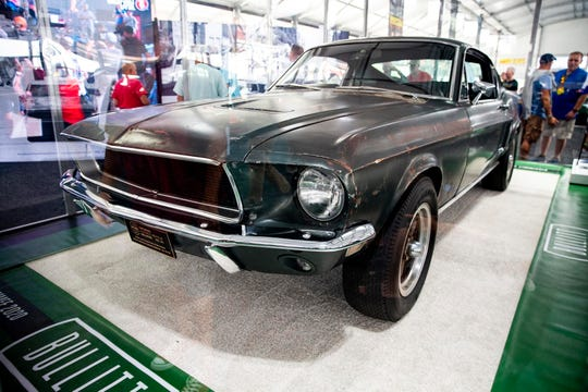 """A 1968 Ford Mustang from the movie """"Bullitt"""" sold for $3.74 million Friday."""