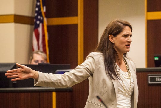 Assistant State Attorney Audra Thoma-Eth gives a closing statement during the rape trial of Jeovanni Hechovarria at the Lee County courthouse on Friday, Jan. 10, 2020.